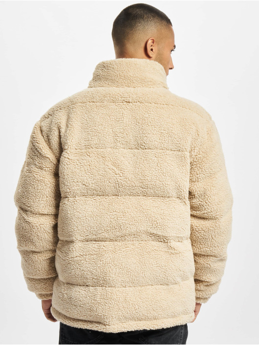 Karl Kani winterjas Retro Teddy beige