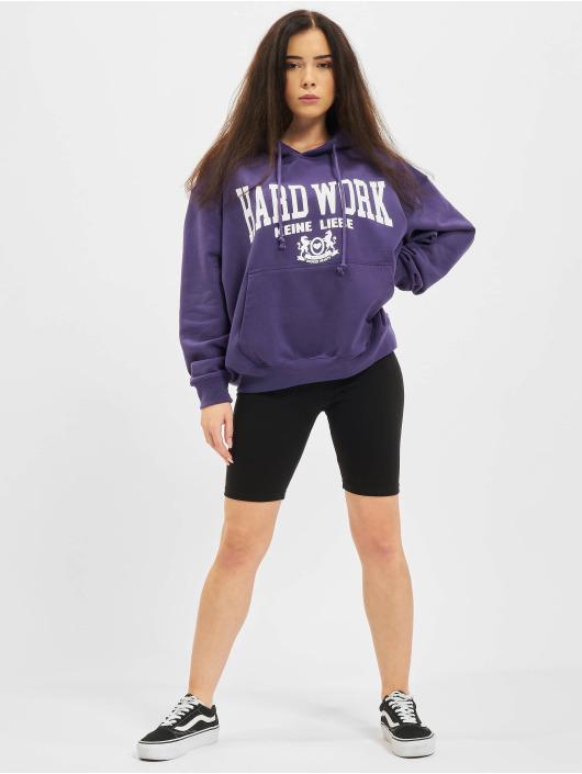 Keine Liebe Hoodie Hard Work purple