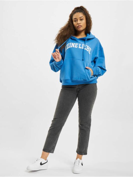 Keine Liebe Hoody College blau