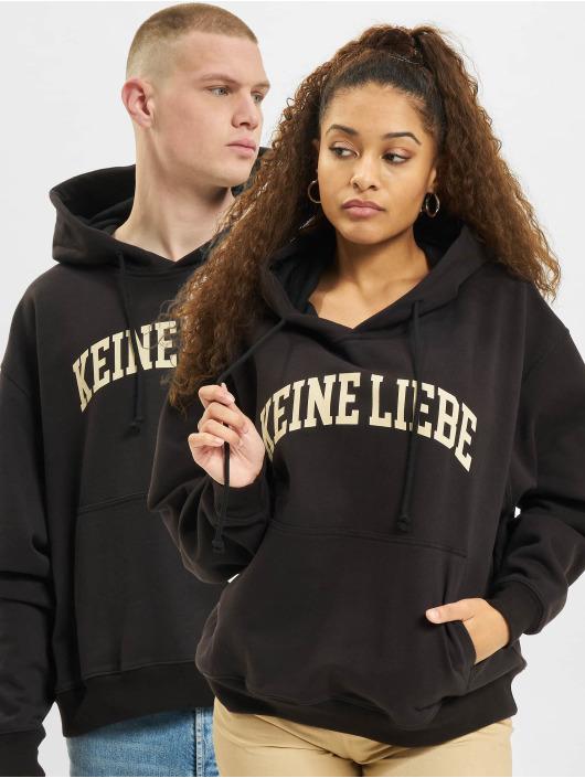 Keine Liebe Hoody College schwarz
