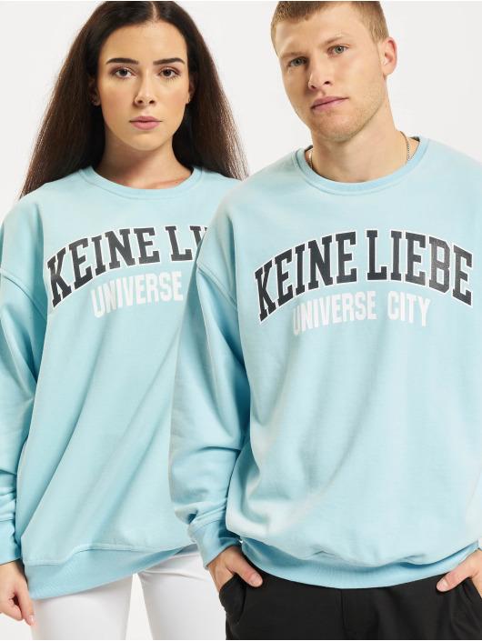 Keine Liebe Pullover Universe City blau