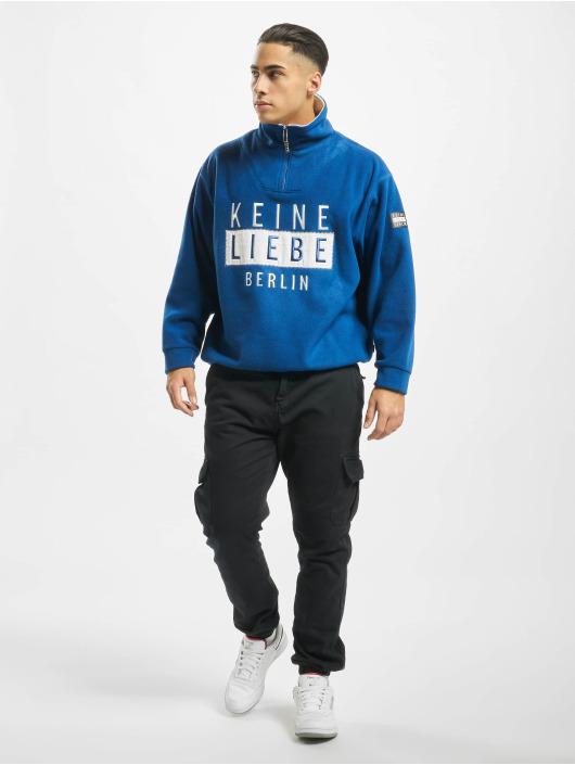 Keine Liebe Pullover Polar Fleece blue