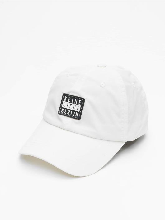 Keine Liebe Snapback Caps Nylon bílý