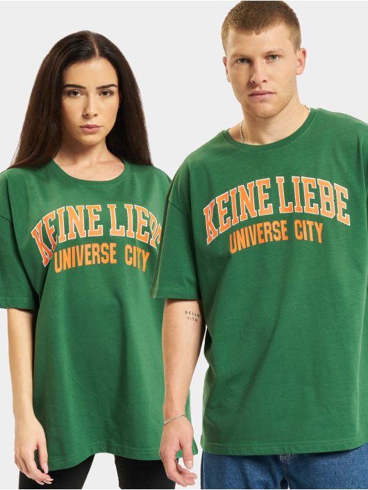 Keine Liebe T-Shirt Universe City grün