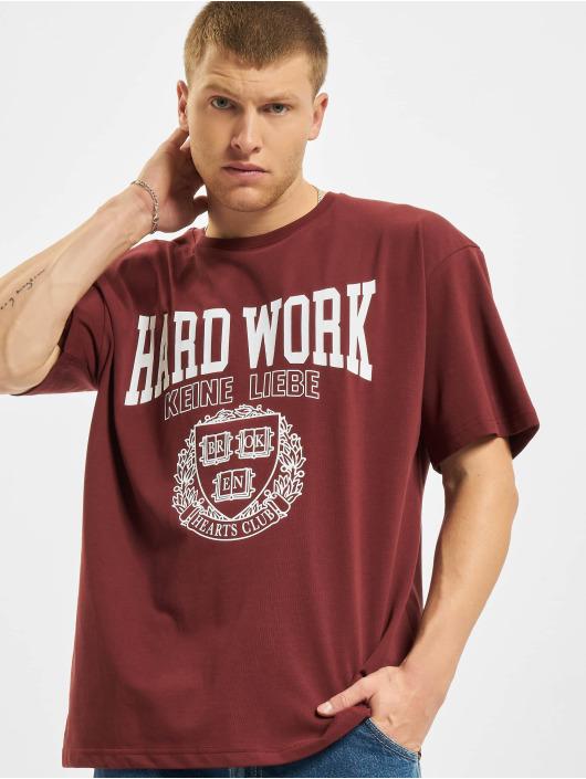 Keine Liebe T-Shirt Hard Work rot