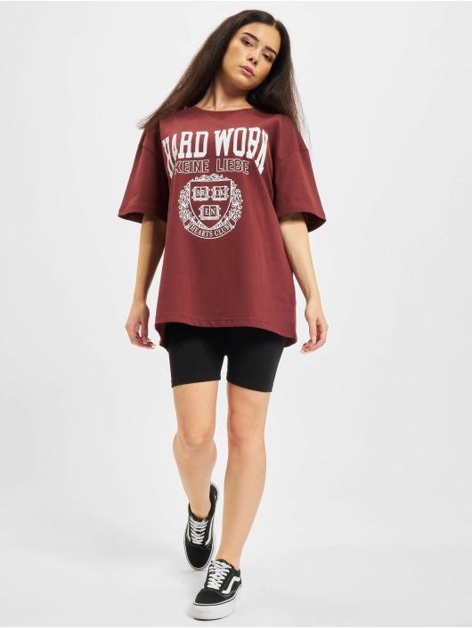 Keine Liebe T-skjorter Hard Work red