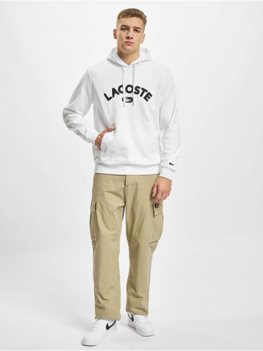 Lacoste Bluzy z kapturem Logo bialy