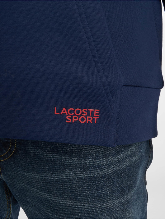 Lacoste Bluzy z kapturem Scille/Graphite/Black/Lighthouse niebieski