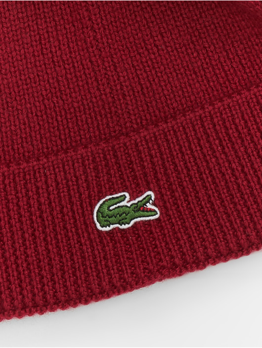Lacoste Hat-1 Half Cardigan Rib red