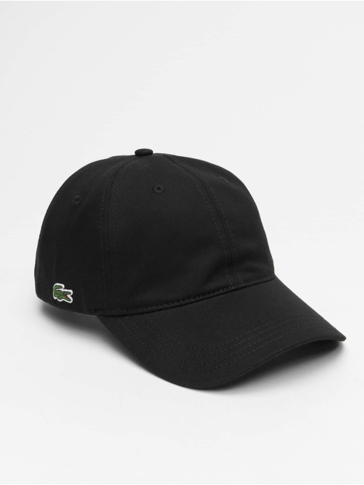 Lacoste Snapback Caps Plain czarny