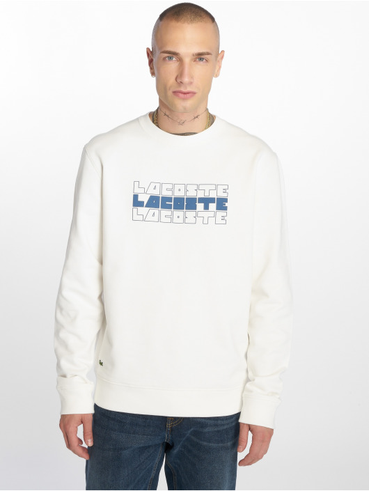 Lacoste Swetry Crew bialy