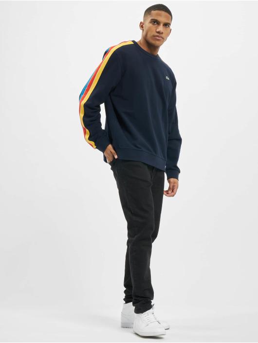Lacoste Swetry Contrast niebieski