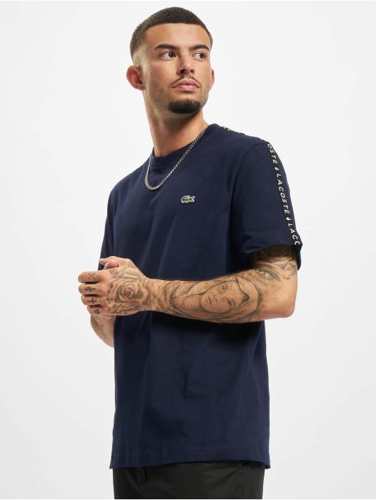 Lacoste T-Shirt Logo Tape blue