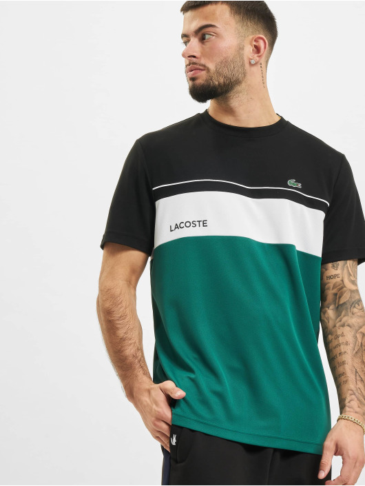 Lacoste T-Shirt Stripe schwarz