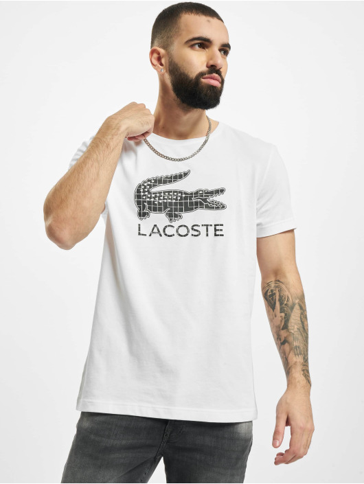 Lacoste T-Shirt Checked Croc weiß
