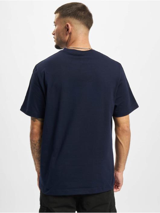 Lacoste T-shirts Logo Tape blå