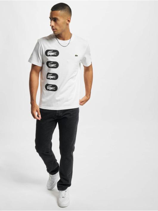Lacoste T-skjorter Logo hvit