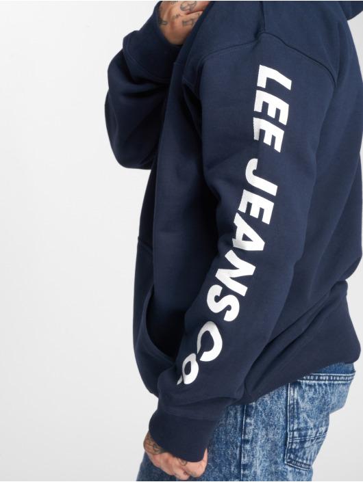 Lee Bluzy z kapturem Hoody niebieski