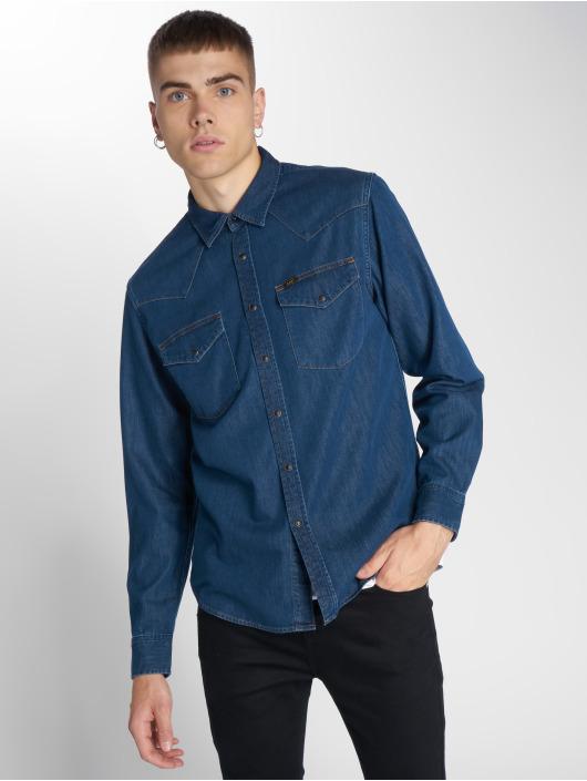 Lee Hemd Western blau