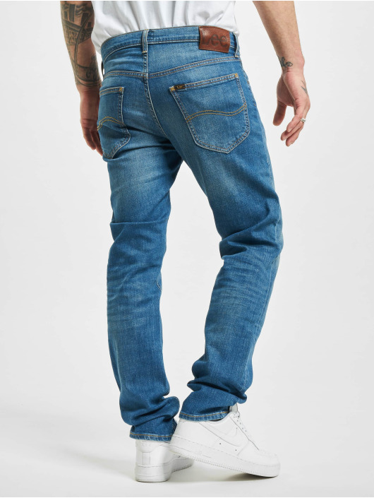 Lee Straight fit jeans Daren Button Fly Low blauw