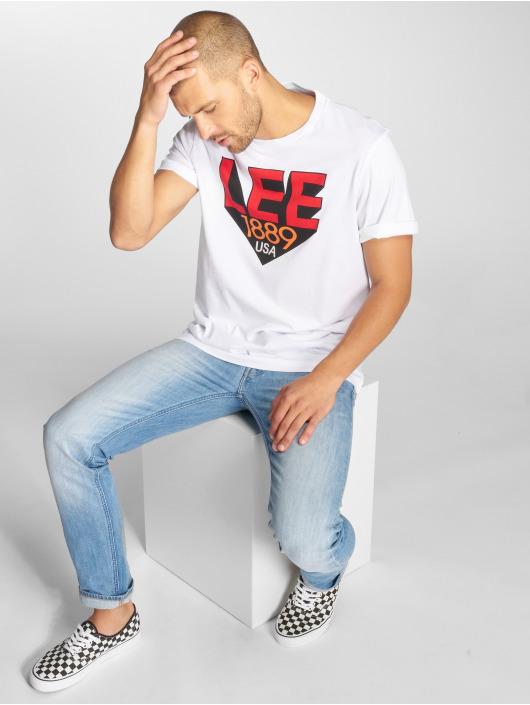 Lee T-Shirt Retro blanc