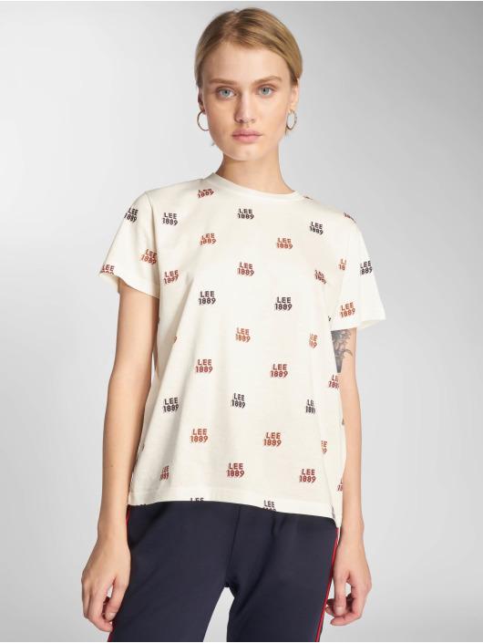 Lee T-Shirt Allover Logo white