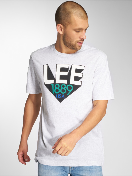 Lee T-Shirty Retro szary