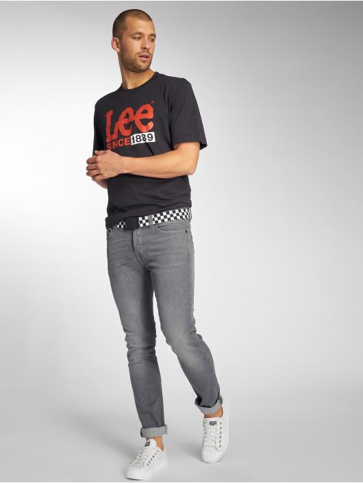 Lee T-skjorter 1889 Logo svart