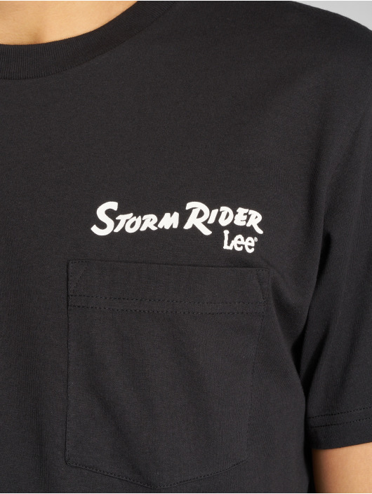 Lee T-skjorter Storm Rider svart