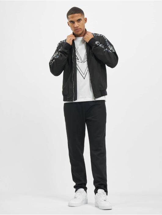 Les Hommes Куртка-бомбардир Logo черный