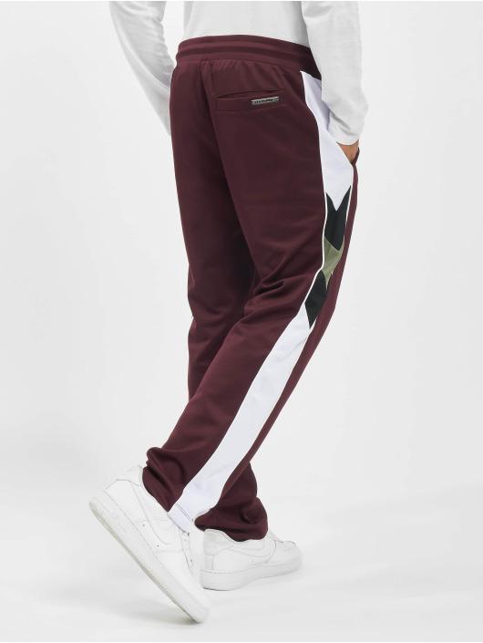 Les Hommes Спортивные брюки Contrast красный