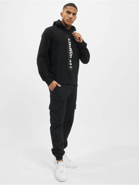 Les Hommes Bluzy z kapturem Logo czarny