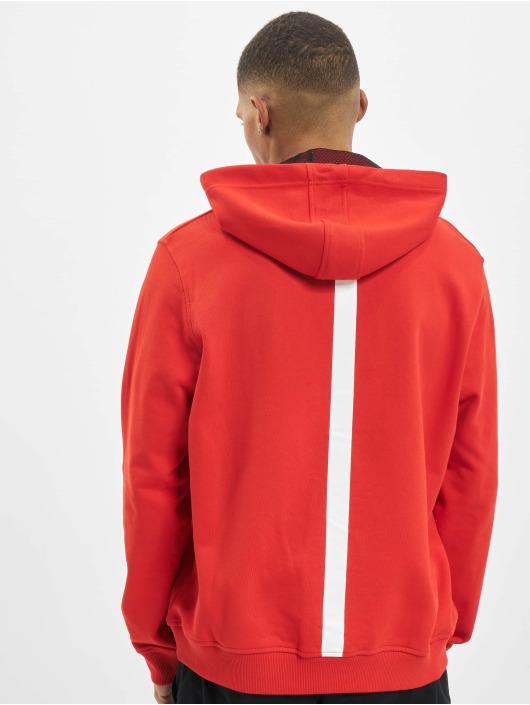 Les Hommes Bluzy z kapturem Graphic City czerwony