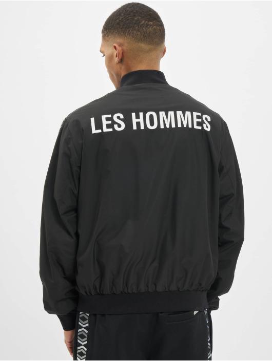 Les Hommes Bomberjacke Logo schwarz