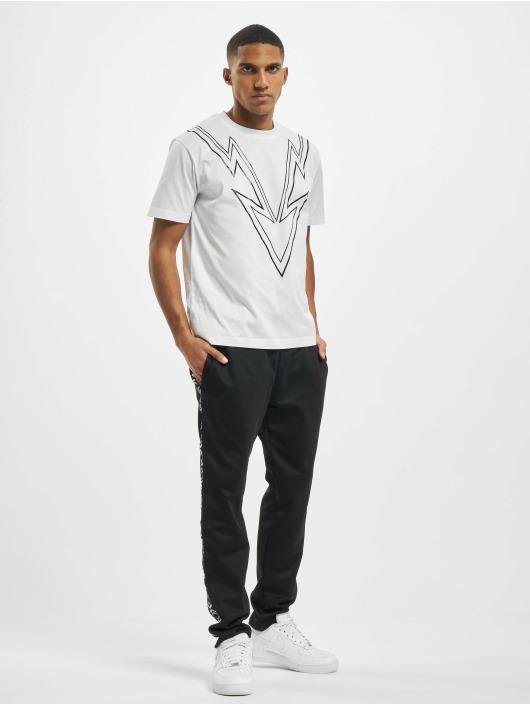 Les Hommes Camiseta Dart blanco