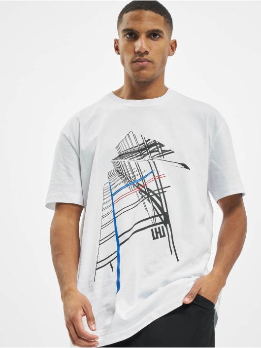 Les Hommes Camiseta Graphic City blanco