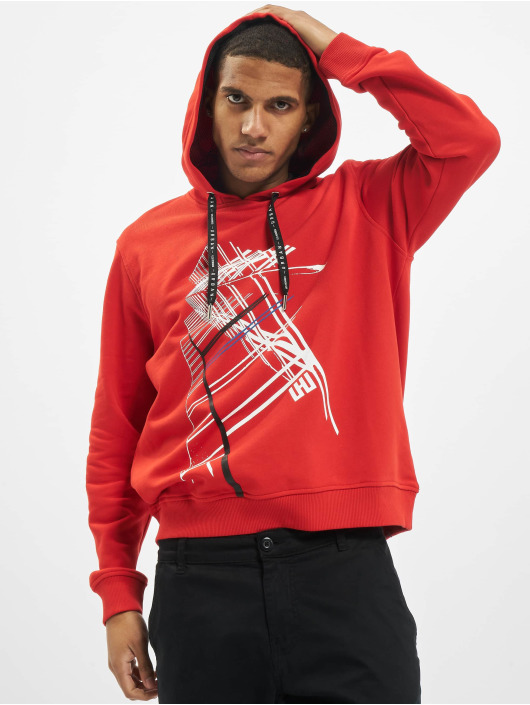 Les Hommes Hoody Graphic City rot