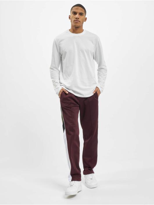 Les Hommes Jogging kalhoty Contrast červený