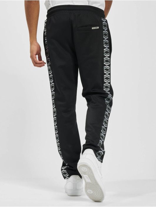 Les Hommes joggingbroek On Side zwart
