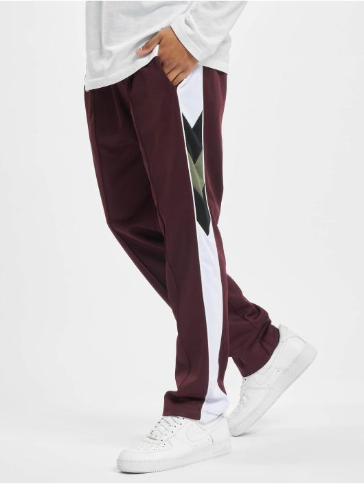 Les Hommes Spodnie do joggingu Contrast czerwony