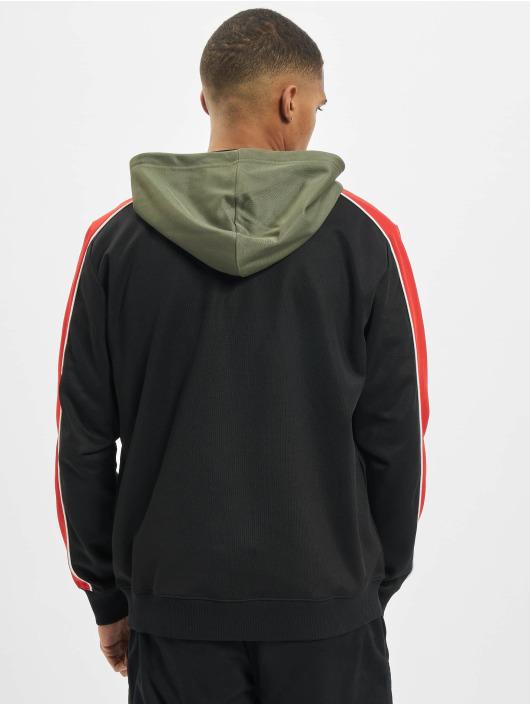 Les Hommes Sweat capuche zippé Contrast noir