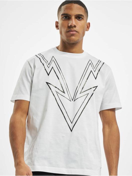 Les Hommes T-Shirt Dart blanc