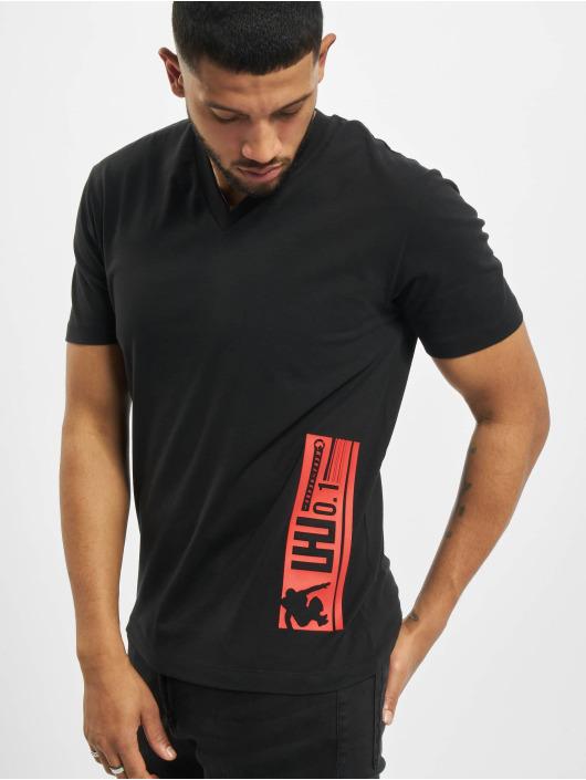 Les Hommes T-shirt Barcode Rubber grå