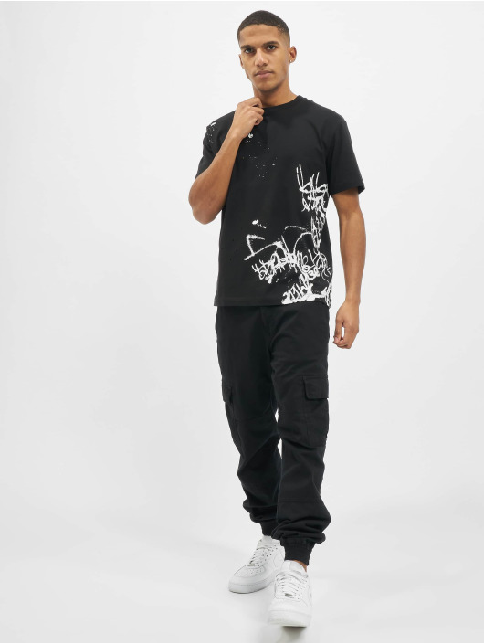 Les Hommes T-shirt Graffiti grå
