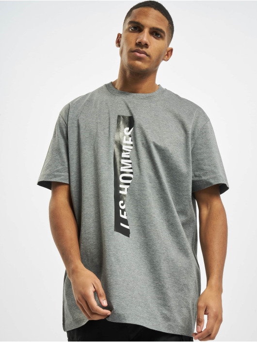 Les Hommes T-Shirt Logo grau