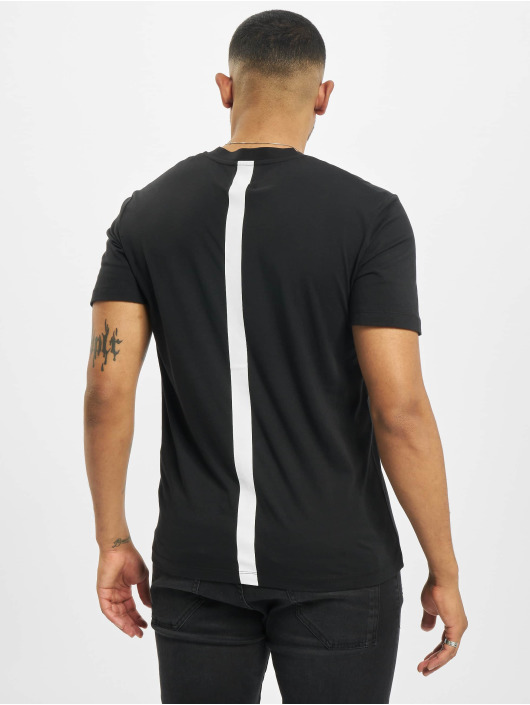 Les Hommes T-Shirt Barcode Rubber grau