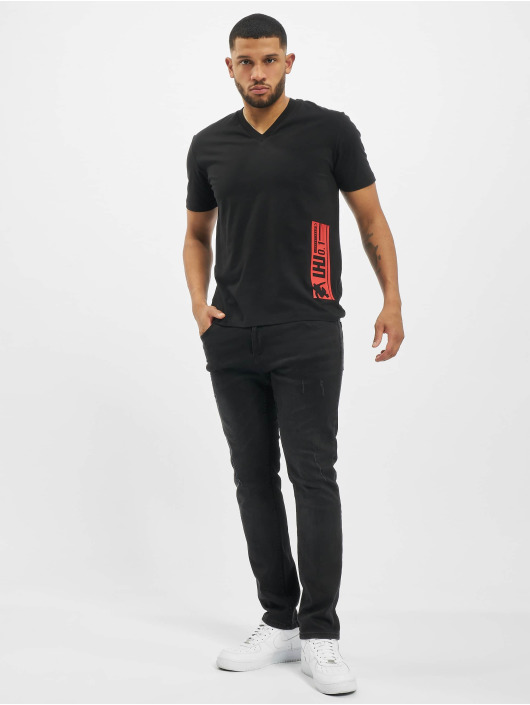 Les Hommes t-shirt Barcode Rubber grijs