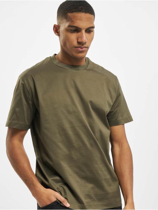 Les Hommes T-Shirt Broken grün