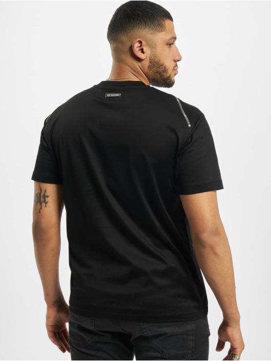 Les Hommes T-shirt Zip nero