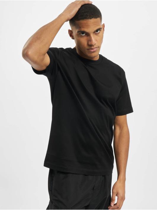 Les Hommes T-Shirt Broken schwarz